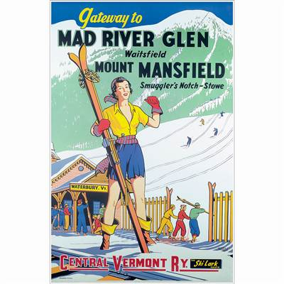 Mad River Glen Vintage Ski Poster