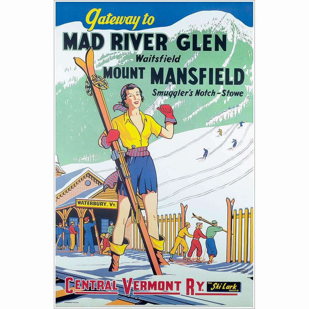 Mad River Glen Vintage Ski Poster