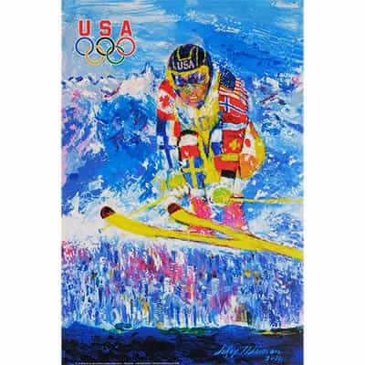 2010 USA Vancouver Olympic Skier Poster