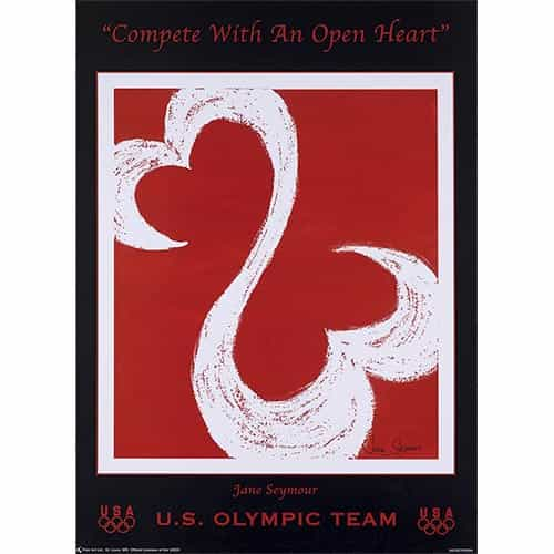 2010 U.S. Olympic Team Open Hearts Poster