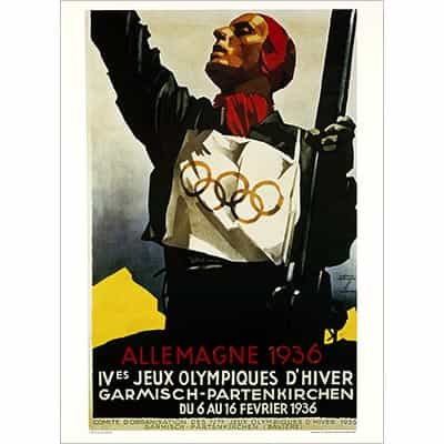 1936 Garmisch Winter Olympics Poster