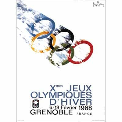 1968 Grenoble Winter Olympics Poster