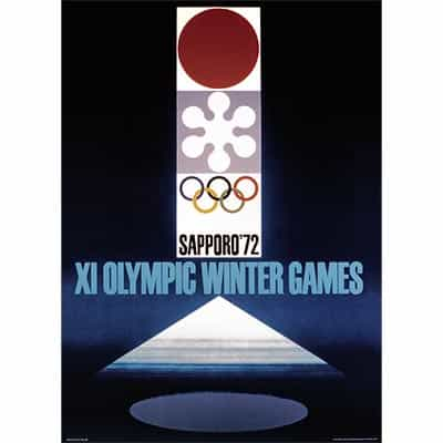 1972 Sapporo Winter Olympics Poster