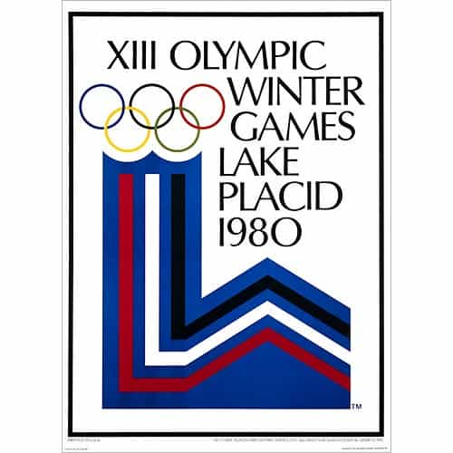 1980 Lake Placid Winter Olympics Poster