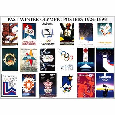 Set of 20 Olympic Posters from 1924 - 2006