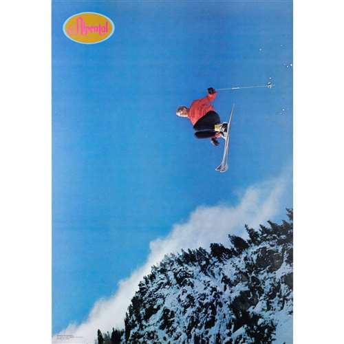 Alpental Jumper Vintage 1970 Ski Poster, 21 x 30 inches