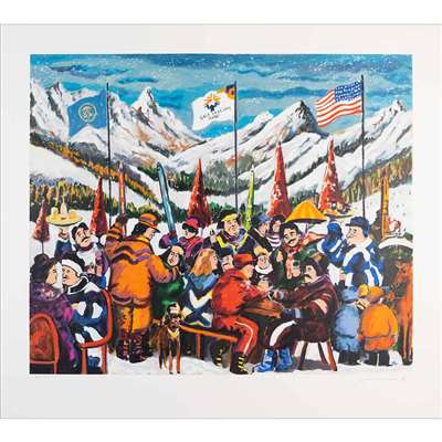 Salt Lake City 2002 by Guy Buffet Original Numbered and Signed Serigraph, 21 1/2 x 25 1/2 inches