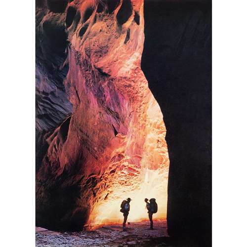 Hiking in Canyonlands Vintage 1976 Poster, 21 x 30 inches