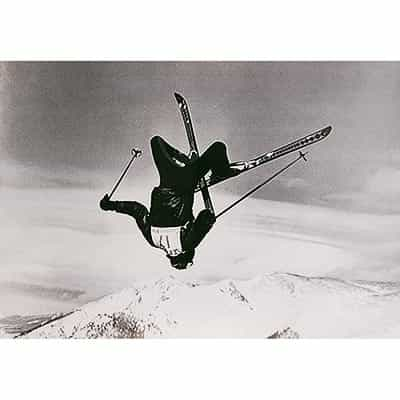 Copper Mnt. CO Original 1970s Backflip Ski Poster with the Contenental Divde in the backround.