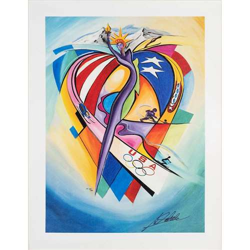 'Olympic Celebration' by Alfred Gockel Signed & Numbered Giclee on Canvas, 14 x 19 inches