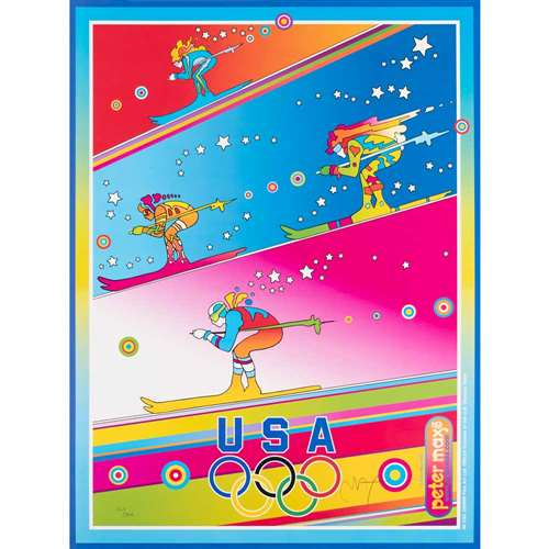 'The Olympics, Torino 2006' by Peter Max Signed and Numbered Serigraph, 18 x 24 inches