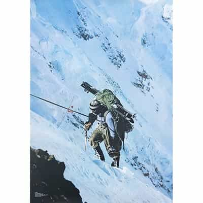 1972 Climber on Mt. McKinley Original Ski Poster