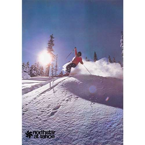 Northstar California Original Vintage 1973 Ski Poster, 21 x 30 inches