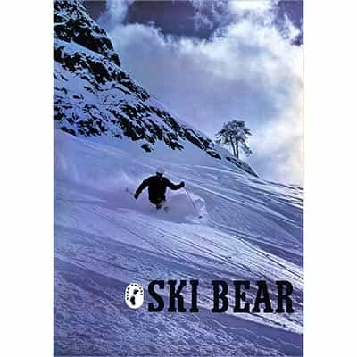 Bear Valley 1970's Vintage Original Ski Poster Photographed by Jerry Hill