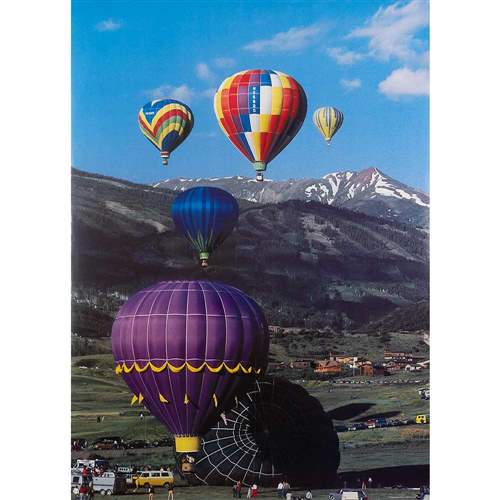Snowmass Balloon Festival Original 1975 Poster, 21 x 29 inches