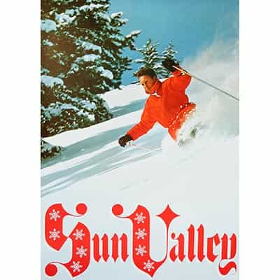 Sun Valley Powder Skiing 1960s Original Poster