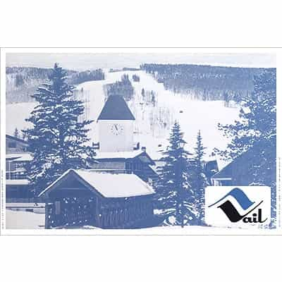 1960s Original Vintage Poster of Vails Covered Bridge
