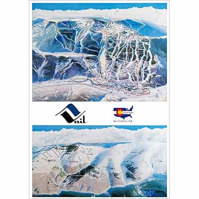 1975 Vail Original Trail Map Ski Poster