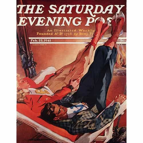 Sat Evening Post Cover Poster - Lodge