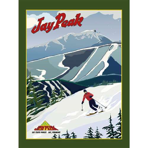 Jay Peak Ski Resort Poster, 18 x 24 inches