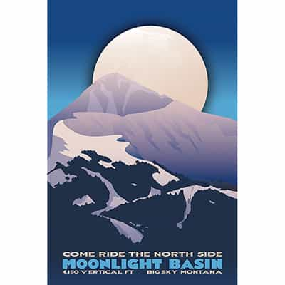 Moonlight Basin Ski Poster