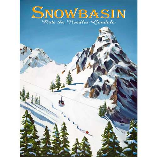 Snowbasin Ski Poster, 18 x 24 inches