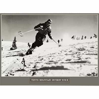 10th Mountain Division Training At Cooper Hill Ski Poster 16 x 22 inches