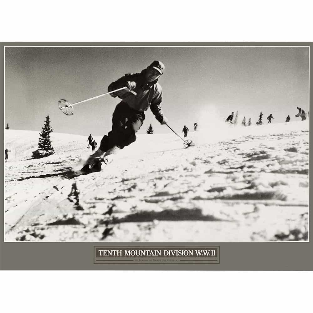 Alpine skiing at cooper hill 10th mountain division ski poster