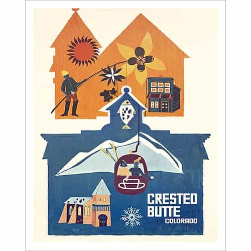 Crested Butte CO Poster