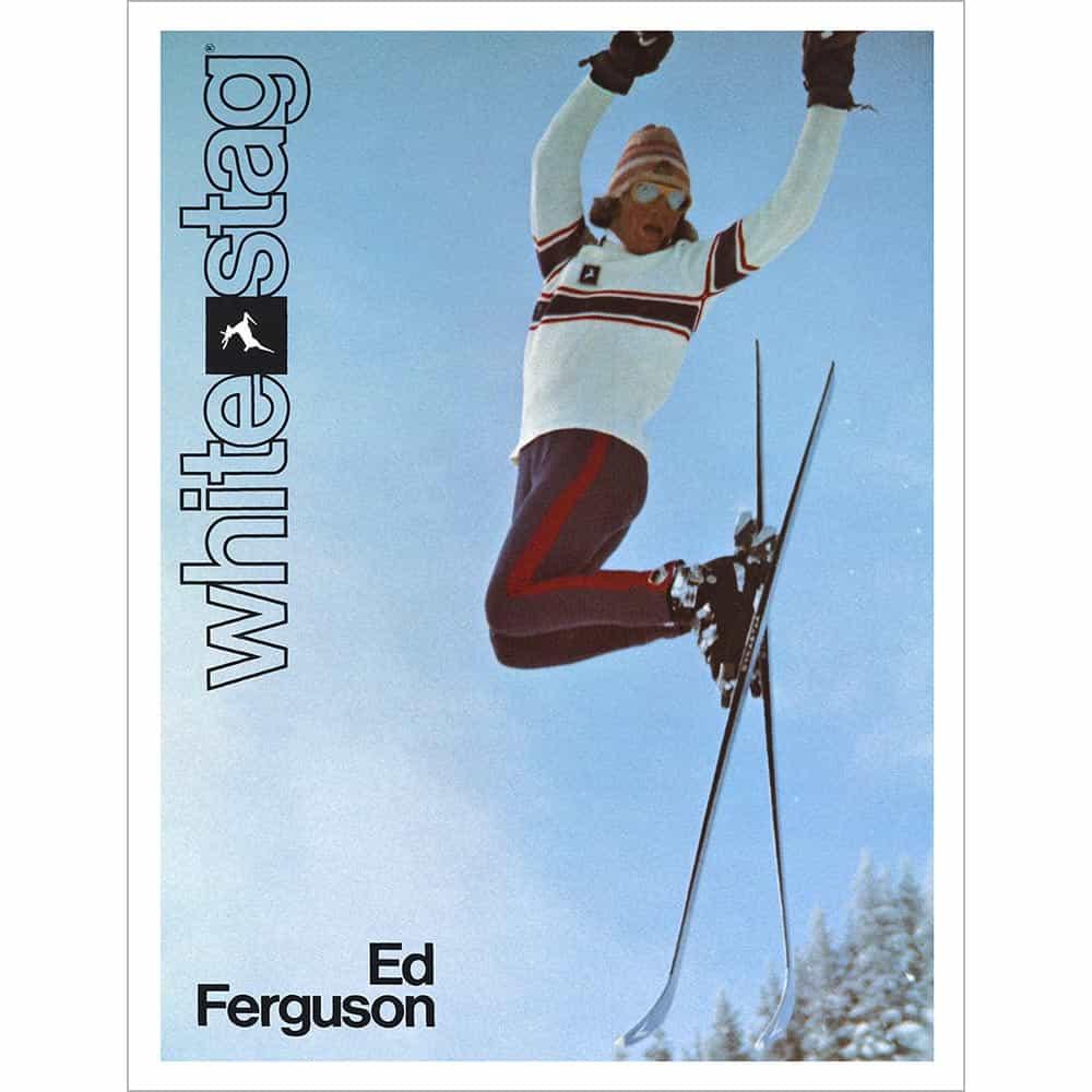 Quot Airborne Quot Eddie Ferguson White Stag Vintage Ski Poster