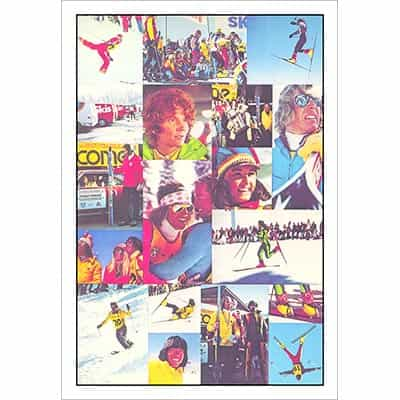 Freestyle Skiing Pro Tour 1973 and 1974 Collage Ski Poster