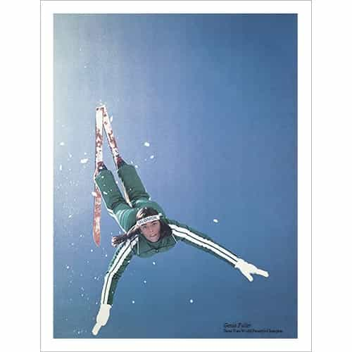 Genia Fuller Doing Her World Freestyle Champion Aerial Ski Poster Size 22 x 28