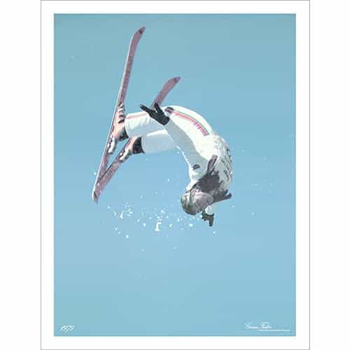 Genia Fuller Doing Her World Freestyle Champion Backflip Ski Poster Size 18 x 24 inches