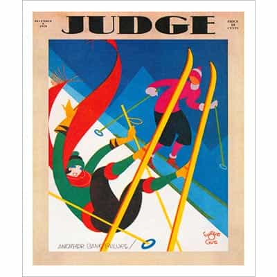 1928 Judge Magazine Cover Ski Poster