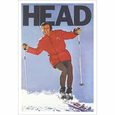 Jean-Claude Killys 1969 Ad for Head - Skiing on his signature Head Killy 800 Skis,