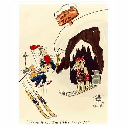 Snuffy ONeil Little Annies Ski Poster (2 Sizes)