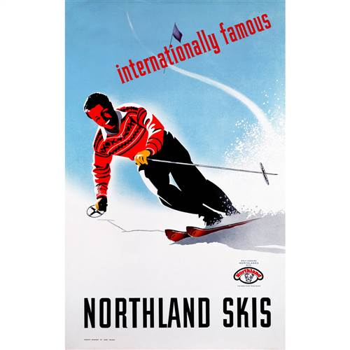 Northland Skis Ad Poster