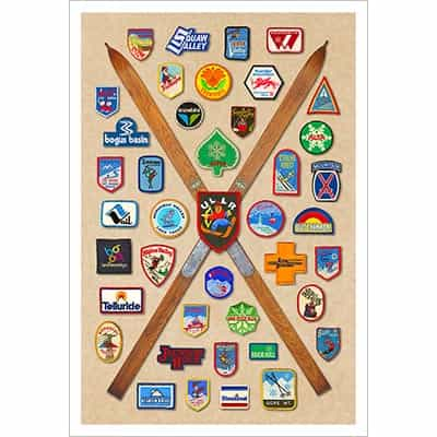 Ski Area Patches From North America Ski Poster
