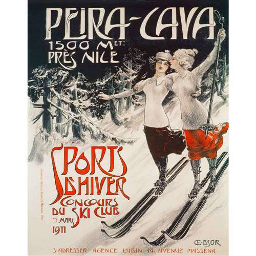 Peira-Cava France Ski Poster, 22 x 28 inches
