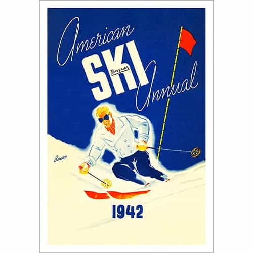 American Ski Annual 1942 Cover Ski Poster (in 3 Sizes)