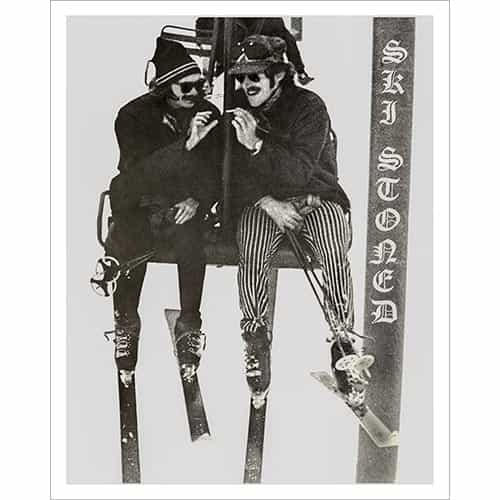Ski Stoned Poster (Black & White or Sepia, with 2 Sizes: 18 x 24 in. and 22 x 28 inches)