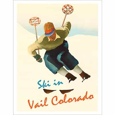 Ski In Vail Colorado Ski Poster