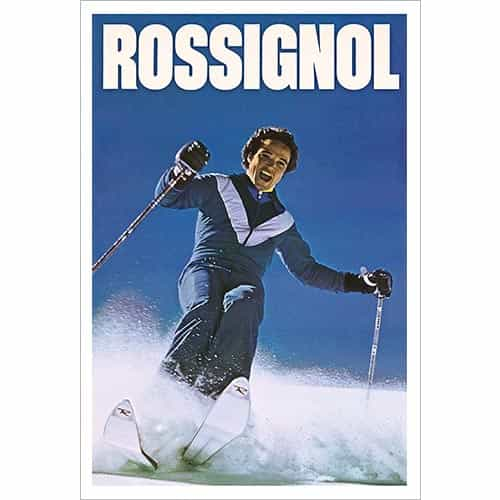 Tommy Waltner Skiing Powder for a Rossignol Ski Poster