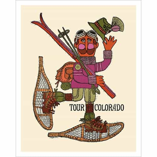 Ski Poster of Tour Colorado, 22 x 28 in