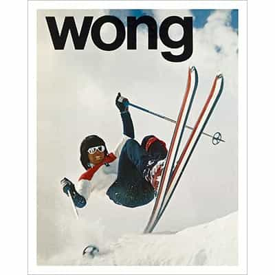 Wayne Wong - Skiing the Wong Way Ski Poster