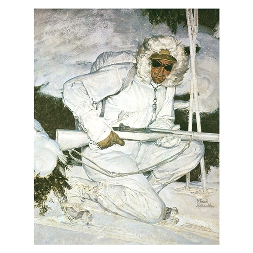 Photo of 10th Mt. Division Soldier in Winter, Image sizes 8 x 10 and 11 x 14 inches.