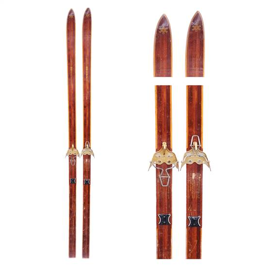 1960's Bonna 2400 Vintage Cross Country Skis with Troll 3 pin bindings