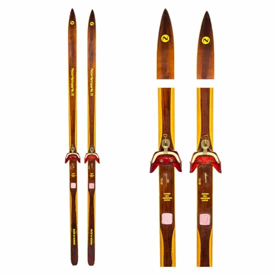 1970's Normark Vintage Nordic Skis with 3 pin bindings