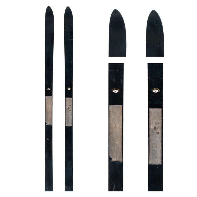 1930s Northland Vintage Unmounted Children's Flat Top Skis, 167 cm