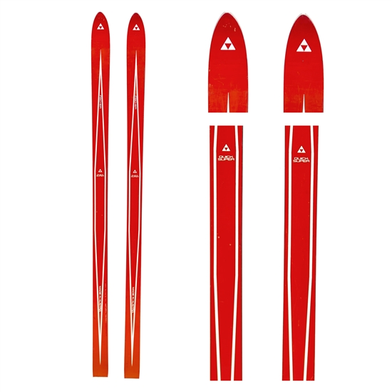 1970s Fischer Quick Super Vintage Unmounted Skis, 170 cm